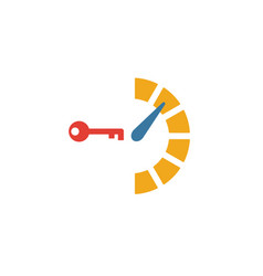 Key performance icon simple flat element from vector