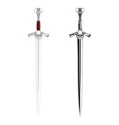 Knight sword vector