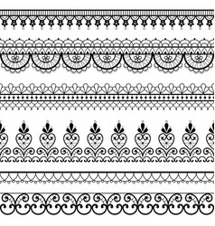 Lace openwork seamless pattern retro design vector