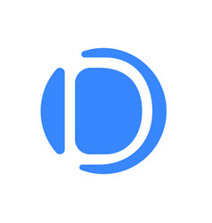 letter d logo blue icon font vector image