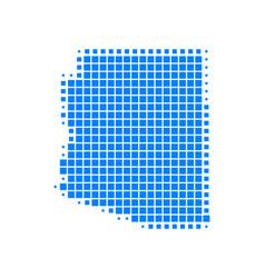 map of arizona vector image