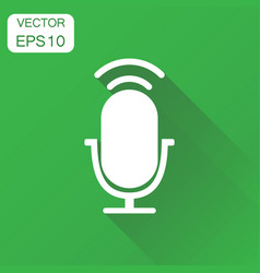 microphone icon business concept microphone vector image