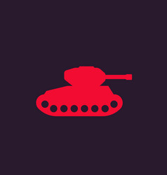 military tank icon vector image
