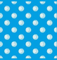 Modern volleyball pattern seamless blue vector