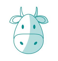 Monocromatic bull design vector
