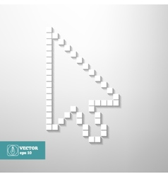 Mouse Cursor isolated vector image