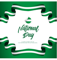 Nigeria national day celebration template design vector