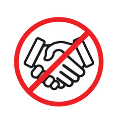 no handshake icon vector image