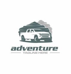 pickup adventure logo vector image
