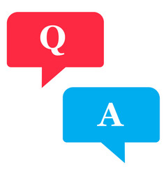 Questions and answers icon on white background vector