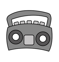 Radio stereo isolated icon vector