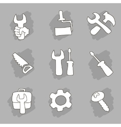 Repair and construction working tools hand drawn vector image