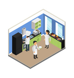 restaurant kitchen commercial food business vector image