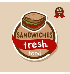 Sandwiches label 2 vector