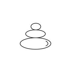 sauna stones icon vector image