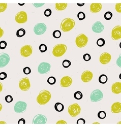 Seamless pattern with dot vector image