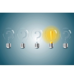 Set of stylized bulb lamps vector image