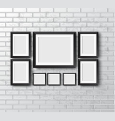 Set Realistic frame vector image