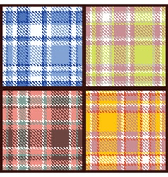 set seamless checkered pattern vector image