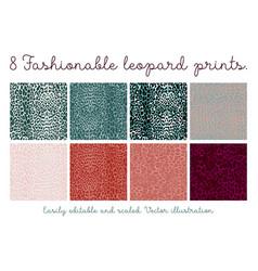 set seamless leopard patterns vector image
