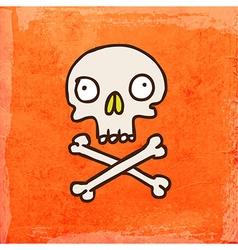 Skull Cross and Bones Cartoon vector image