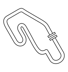 Speedway icon outline style vector image