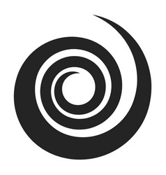 spiral black icon round circle effect and vector image