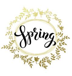 Spring handwritten black brash pen summering vector