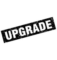 Square grunge black upgrade stamp vector