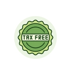 Tax free colorful icon vector
