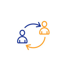 Teamwork line icon profile avatar sign vector