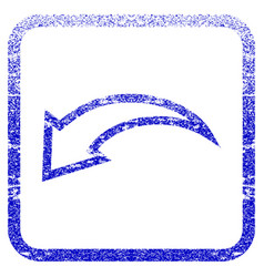 Undo framed textured icon vector