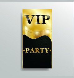 Vip club party premium invitation card poster flye vector ...