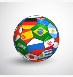 World football championship concept soccer ball vector