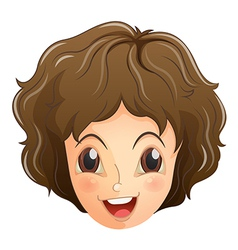 A face of a smiling teenager vector image