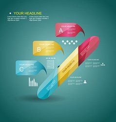 Business Design Template with color ribbon banners vector image vector image