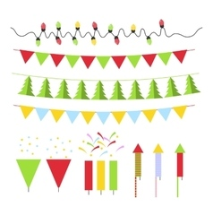 Christmas decoration set for Christmas tree and vector image vector image