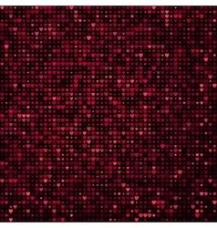 seamless glitter mosaic pink heart texture vector image vector image