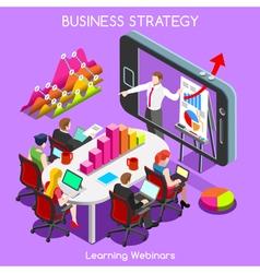 Webinars 03 Business Isometric vector image vector image