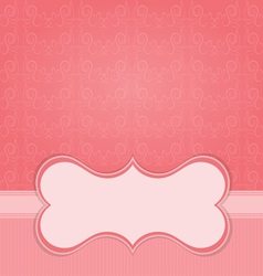 Frame on the paper background with design element vector image