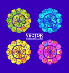 Geometric logo template vector