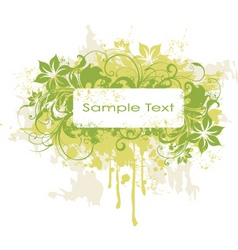 grunge tropical frame vector image vector image
