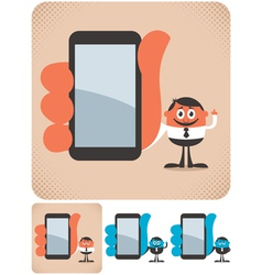 Holding Smartphone vector image vector image
