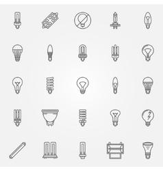 Light bulbs icons set vector image