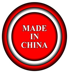 Made in China icon vector image