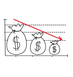 Money Loss Graph vector image vector image