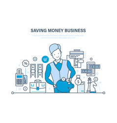 saving money business investment credits vector image vector image