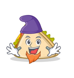 elf sandwich character cartoon style vector image vector image