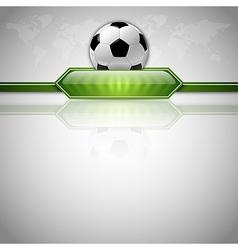 football score green world gray vector image vector image