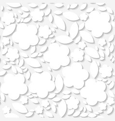 seamless white origami pattern with flowers vector image vector image